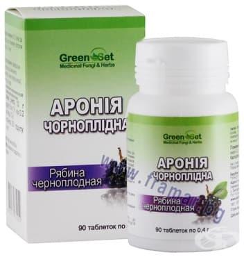 Изображение към продукта ГРИЙНСЕТ АРОНИЯ таблетки * 90