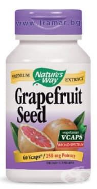 Изображение към продукта ГРЕЙПФРУТ СЕМЕНА капсули 250 мг. * 60 NATURE'S WAY