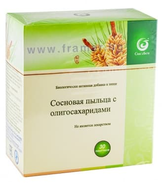Изображение към продукта БОРОВ ПРАШЕЦ С ОЛИГОЗАХАРИДИ пакетче 3 гр. * 30