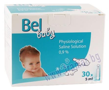 Изображение към продукта ХАРТМАН БЕЛ БЕБЕ физиологичен разтвор 0,9% 5 мл * 30