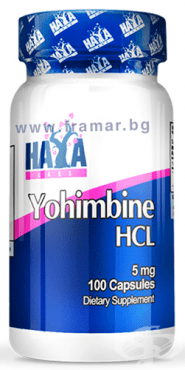 ХАЯ ЛАБС ЙОХИМБИН ХИДРОХЛОРИД капсули 5 мг. * 100 - изображение