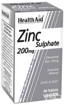Изображение към продукта ЦИНКОВ СУЛФАТ таблетки 200 мг * 90 ХЕЛТ ЕЙД