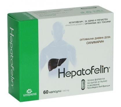 Изображение към продукта ХЕПАТОФЕЛИН капсули 540 мг * 60 ВИТА ХЕРБ