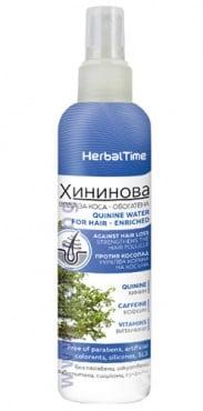 Изображение към продукта ХЕРБАЛ ТАЙМ ХИНИНОВА ВОДА ЗА КОСА - ОБОГАТЕНА - СПРЕЙ 200 мл