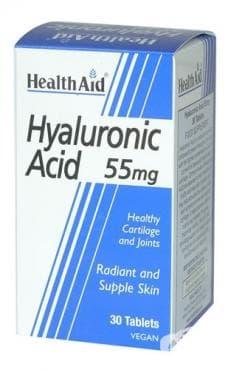 ХИАЛУРОНОВА КИСЕЛИНА  табл. 55 мг. * 30 ХЕЛТ ЕЙД - изображение