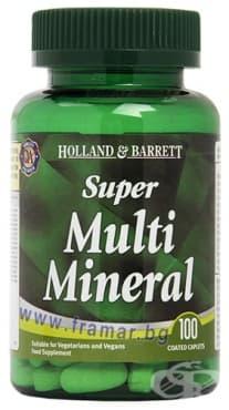 Изображение към продукта СУПЕР МУЛТИМИНЕРАЛИ таблетки * 100 HOLLAND & BARRETT