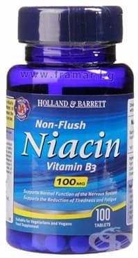 НИАЦИН ВИТАМИН Б 3 таблетки 100 мг * 100 HOLLAND & BARRETT - изображение