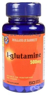 L-ГЛУТАМИН каплети 500 мг. * 50 HOLLAND & BARRETT - изображение