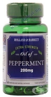 МАСЛО ОТ МЕНТА капсули 200 мг. * 60 HOLLAND BARRETT - изображение