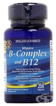 Изображение към продукта ВИТАМИН B КОМПЛЕКС + ВИТАМИН B12 таблетки * 250 HOLLAND & BARRETT