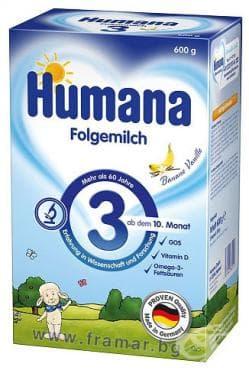 Изображение към продукта ХУМАНА 3 след 10 месец 600 гр.