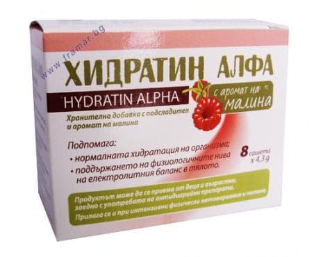 Изображение към продукта ХИДРАТИН АЛФА МАЛИНА саше * 8