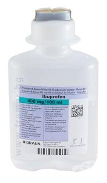 Изображение към продукта ИБУПРОФЕН инфузионен разтвор 400 мг / 100 мл 100 мл * 10