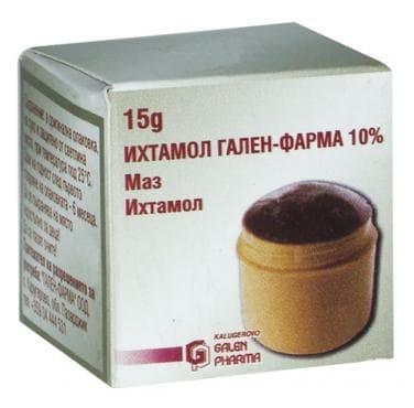 Изображение към продукта ИХТИОЛ унгвент 10% 15 гр. кутия