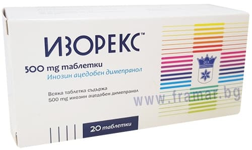 Изображение към продукта ИЗОРЕКС таблетки 500 мг * 20