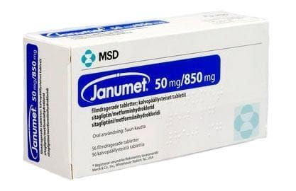 Изображение към продукта ЯНУМЕТ табл. 50 мг. / 850 мг. * 28