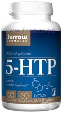 Изображение към продукта ДЖАРОУ ФОРМУЛАС 5-ХИДРОКСИТРИПТОФАН (5-HTP) капсули 100 мг * 60