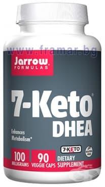 Изображение към продукта ДЖАРОУ ФОРМУЛАС 7-КЕТО DHEA капсули 100 мг * 90