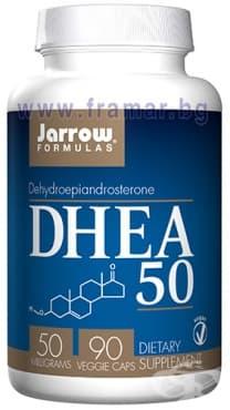 Изображение към продукта ДЖАРОУ ФОРМУЛАС ДЕХИДРОЕПИНАДРОСТЕРОН (ДХЕА) капсули 50 мг * 90