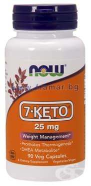 Изображение към продукта НАУ ФУДС 7 - КЕТО капсули 25 мг * 90
