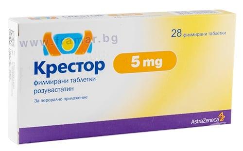 Изображение към продукта КРЕСТОР таблeтки 5 мг * 28 БЕСТА МЕД