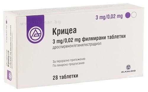 Изображение към продукта КРИЦЕА таблетки 3 мг / 0.02 мг * 28