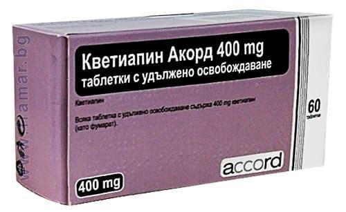Изображение към продукта КВЕТИАПИН SR АКОРД таблетки с удължено освобождаване 400 мг * 60 ACCORD HEALTHCARE LTD