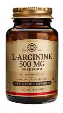 L - АРГИНИН капс. 500 мг. * 50 СОЛГАР - изображение