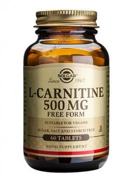 L - КАРНИТИН табл. 500 мг. * 30 СОЛГАР - изображение