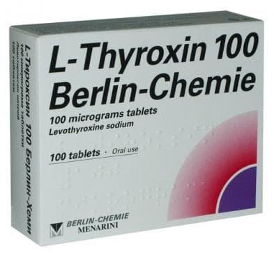 Изображение към продукта L - ТИРОКСИН табл. 0.100 мг. * 100