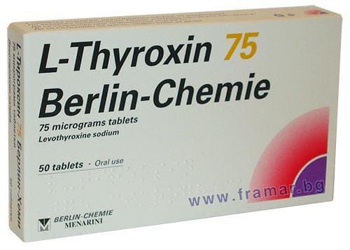 Изображение към продукта L - ТИРОКСИН таблетки 75 мкг * 50 BERLIN CHEMIE