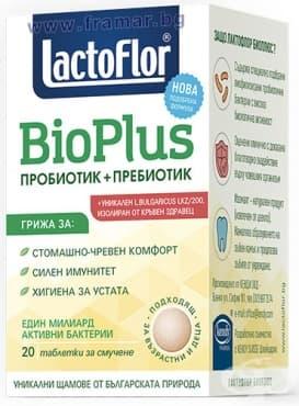 Изображение към продукта ЛАКТОФЛОР BIO PLUS таблетки за смучене * 20