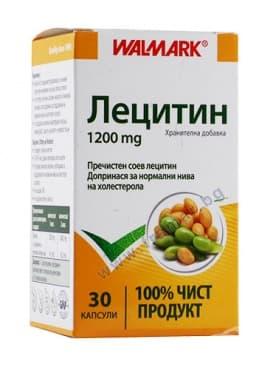Изображение към продукта ЛЕЦИТИН капс. 1200 мг. * 30 ВАЛМАРК