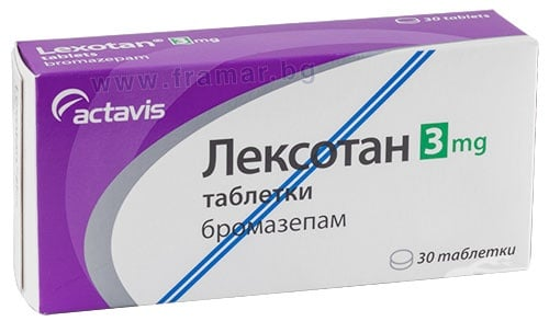 Изображение към продукта ЛЕКСОТАН таблетки 3 мг * 30