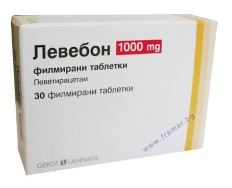 ЛЕВЕБОН табл. 1000 мг. * 30 - изображение