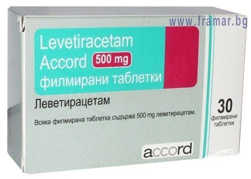 Изображение към продукта ЛЕВЕТИРАЦЕТАМ АКОРД таблетки 500 мг. * 30 ACCORD HEALTHCARE LTD