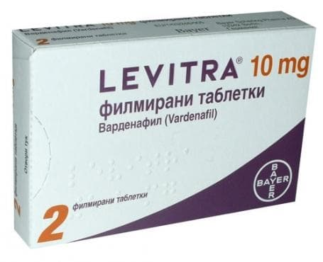ЛЕВИТРА таблетки 10 мг * 2 - изображение