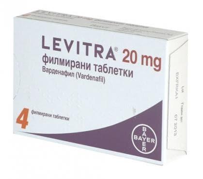 ЛЕВИТРА таблетки 20 мг * 4 - изображение
