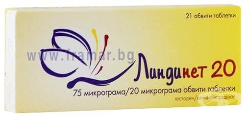 Изображение към продукта ЛИНДИНЕТ 20 таблетки 75 мкг / 20 мкг * 21