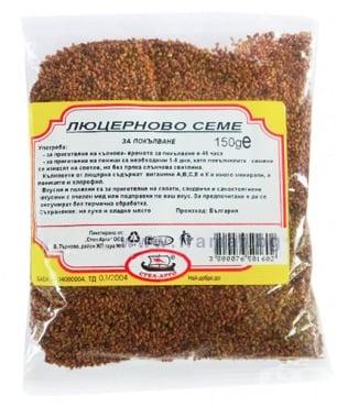 Изображение към продукта ЛЮЦЕРНОВО СЕМЕ ЗА ПОКЪЛВАНЕ 150 г СТЕЛ АРГО