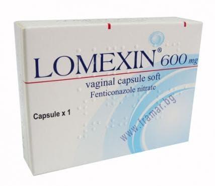 ЛОМЕКСИН  вагинална глобула 600 мг. * 1 - изображение