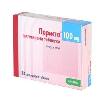 Изображение към продукта ЛОРИСТА филмирани таблетки 100 мг * 28 KRKA