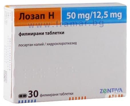 Изображение към продукта ЛОЗАП Н таблетки  * 30