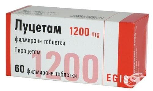 Изображение към продукта ЛУЦЕТАМ табл. 1200 мг. * 60