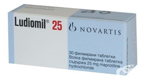 ЛУДИОМИЛ табл. 25 мг. * 30 NOVARTIS PHARMA SERV - изображение