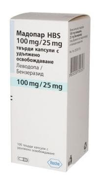 МАДОПАР HBS твърди капс. с удължено освобождаване 100 мг. / 25 мг. * 100 - изображение