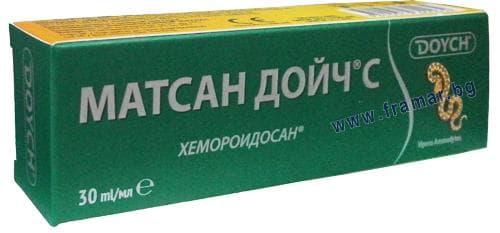 Изображение към продукта МАТСАН ДОЙЧ С крем ЗЕЛЕН ПРОТИВ ХЕМОРОИДИ 30 мл