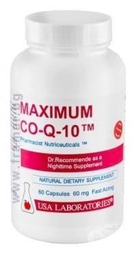 Изображение към продукта МАКСИМУМ КОЕНЗИМ Q10 капсули * 60 USA LABORATORIES