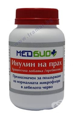 МЕДБИО + ПРЕБИОТИК  ИНУЛИН НА ПРАХ 180 гр. - изображение