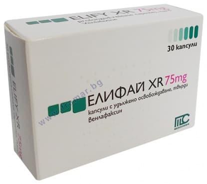 Изображение към продукта ЕЛИФАЙ XR капс. 75 мг. * 30